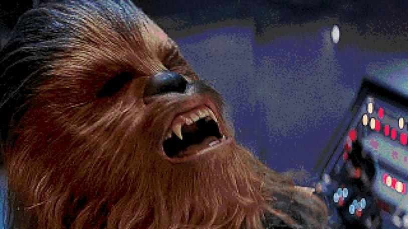 GIF di Chewbacca mentre ride