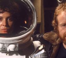 Sigourney Weaver e Ridley Scott sul set di Alien