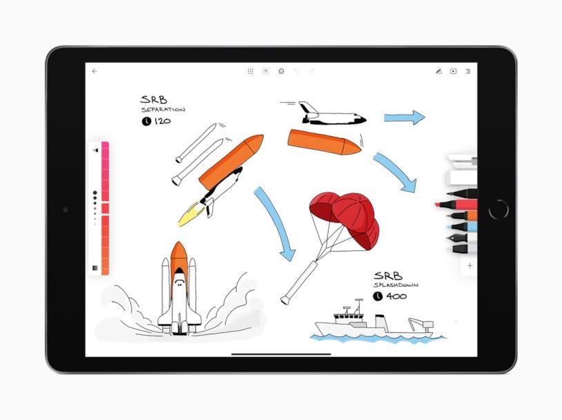 L'app Flow by Moleskine in esecuzione su un iPad