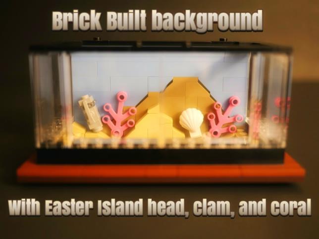 Un primo piano della vasca dell'acquario di LEGO