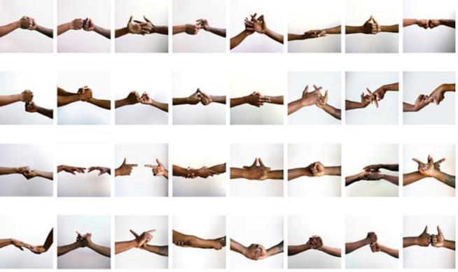 Esempi di Black Power handshake