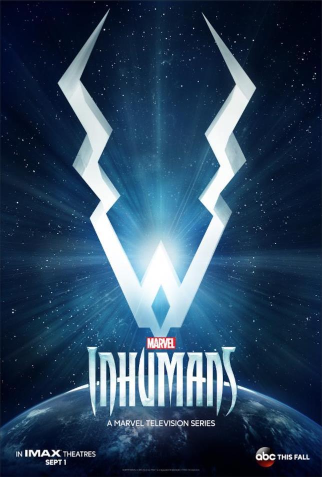 Il teaser poster di Inhumans col logo della serie TV