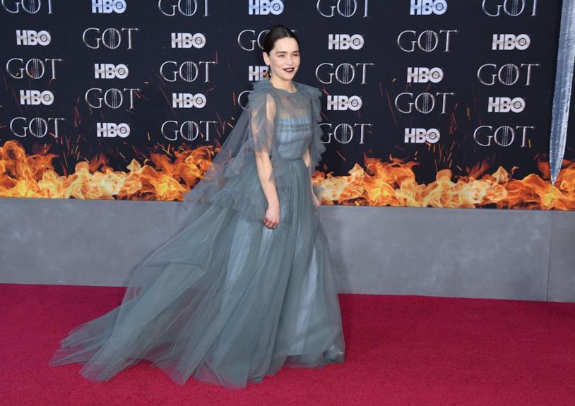 Emilia Clarke sul red carpet di Game of Thrones 8