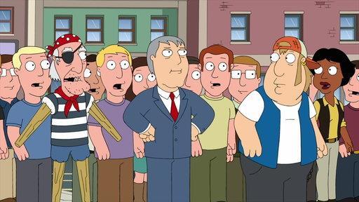 Il personaggio de I Griffin Adam West in una scena dell'episodio 15x14
