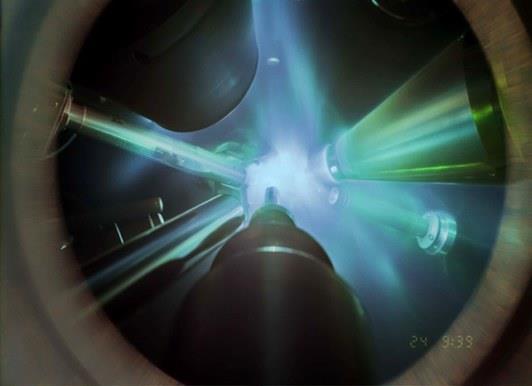 Un'immagine del laser a raggi X in azione