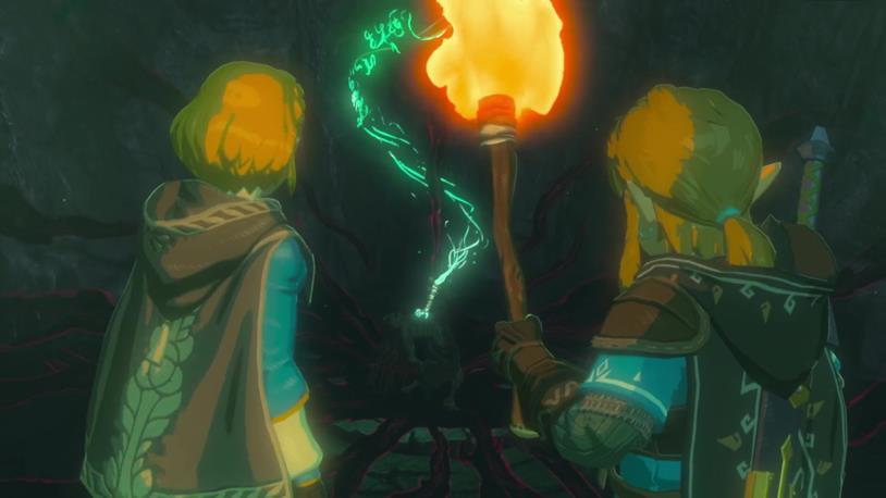 Un fotogramma dal teaser trailer del seguito di The Legend of Zelda: Breath of the Wild