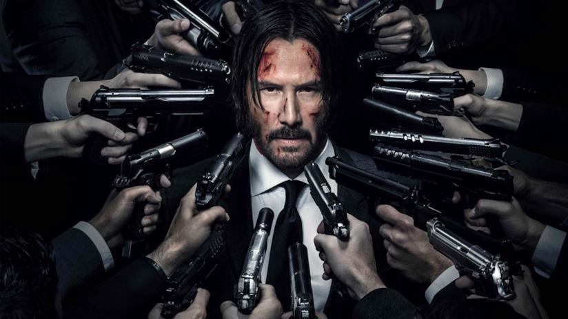 Keanu Reeves in un'immagine promozionale di John Wick - Capitolo 2