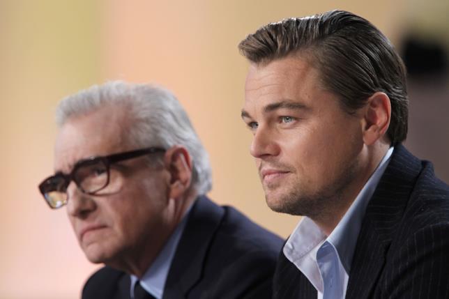 Un primo piano di Martin Scorsese e Leonardo DiCaprio