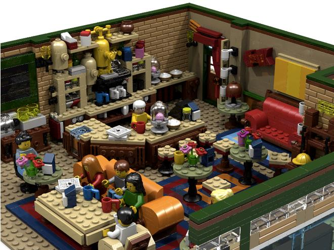Il Central Perk ricreato completamente con i mattoncini Lego