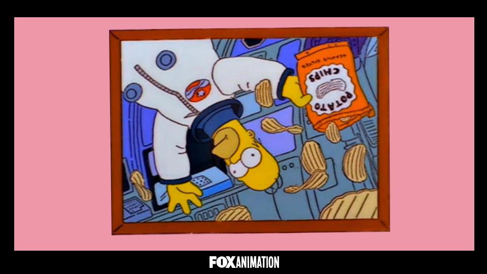 Chi ha scattato questa foto a Homer nello spazio?