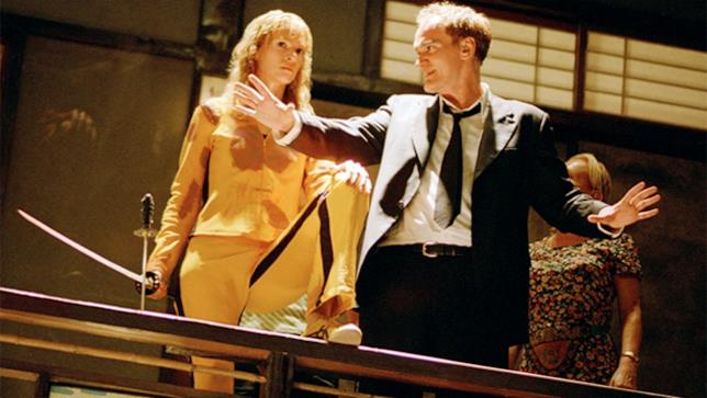 Quentin Tarantino al lavoro sul set di Kill Bill