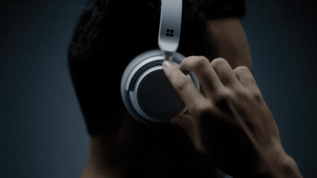 La regolazione del volume sulle Surface Headphones