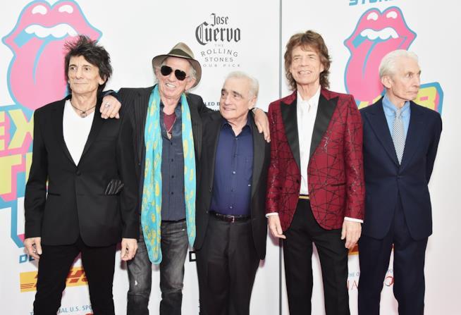 The Rolling Stones durante un evento pubblico