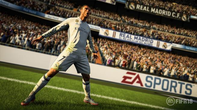 Cristiano Ronaldo sui campi di FIFA 18