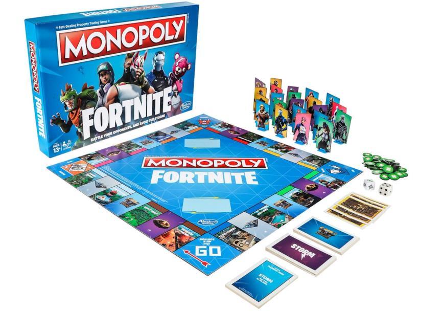 Il Monopoly di Fortnite prodotto da Hasbro
