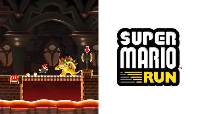 Logo e screenshot di Super Mario Run