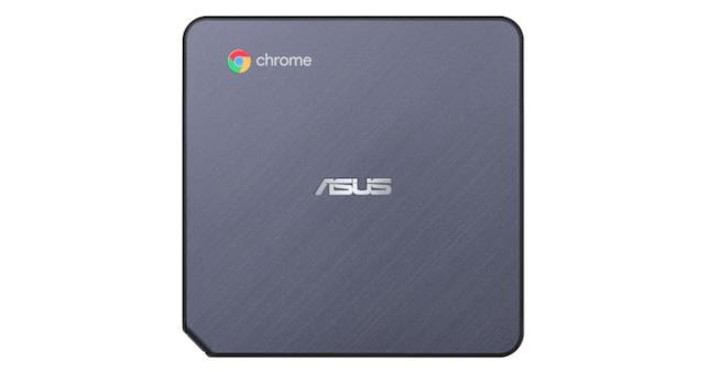 Immagine stampa che mostra la scocca superiore di ASUS Chromebox 3