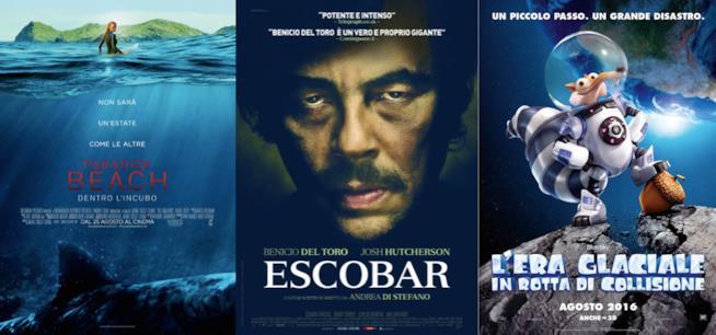 I poster dei film in uscita nel weekend del 27 e 28 agosto 2016