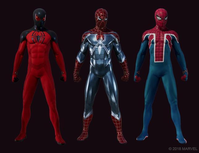 Un primo sguardo ai tre nuovi costumi di Marvel's Spider-Man