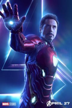 Il poster del personaggio di Iron Man