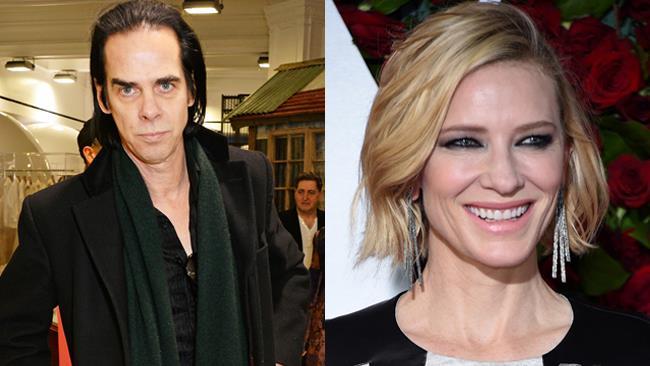 Il cantante Nick Cave e l'attrice Cate Blanchett