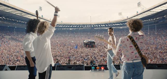 Lo stadio del Live Aid nel film