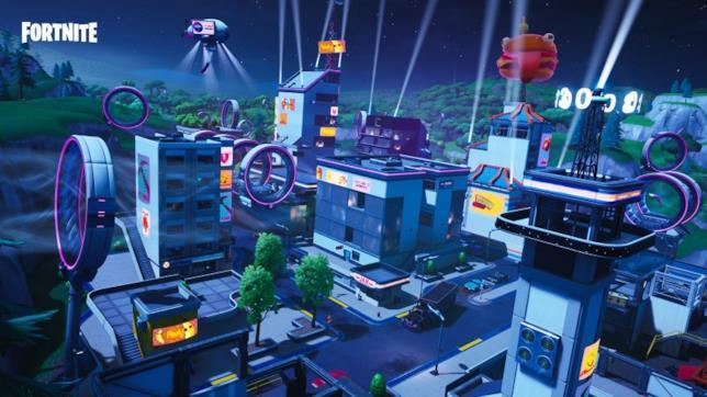Immagine promozionale del Mega Mall, nuova località di Fortnite