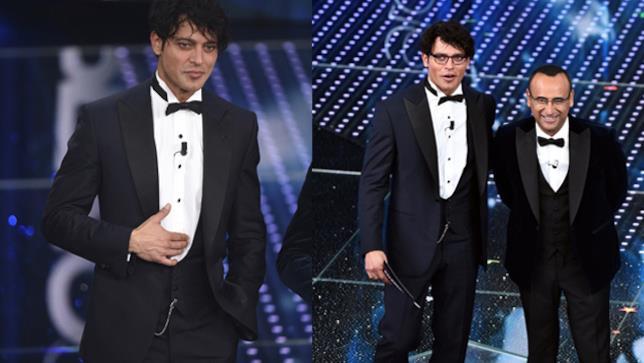 Gabriel Garko durante alla prima serata del Festival di Sanremo
