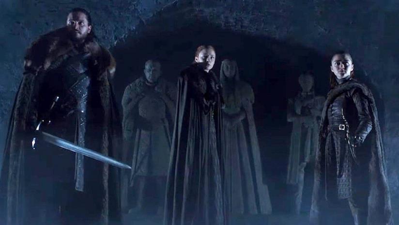 Gli Stark nella cripta di famiglia nel teaser di Game of Thrones 8