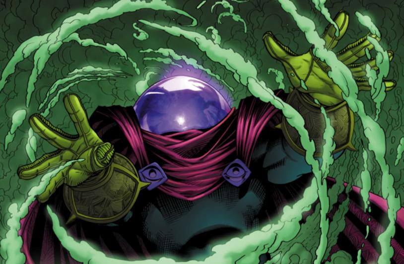 Illustrazione di Mysterio dalle pagine di un fumetto Marvel
