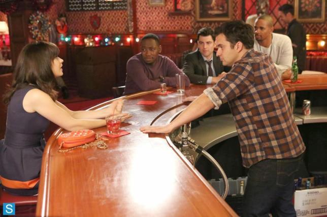 Jess al bar con gli amici.