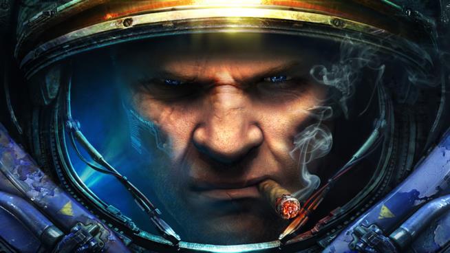 Il primo piano di un Terran da StarCraft II