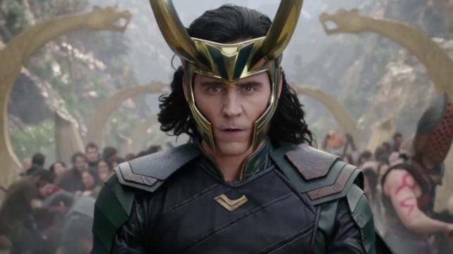 Loki (Tom Hiddleston) in una scena di Thor: Ragnarok
