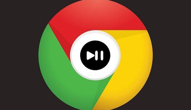 Il logo di Google Chrome con al centro l'icona Play