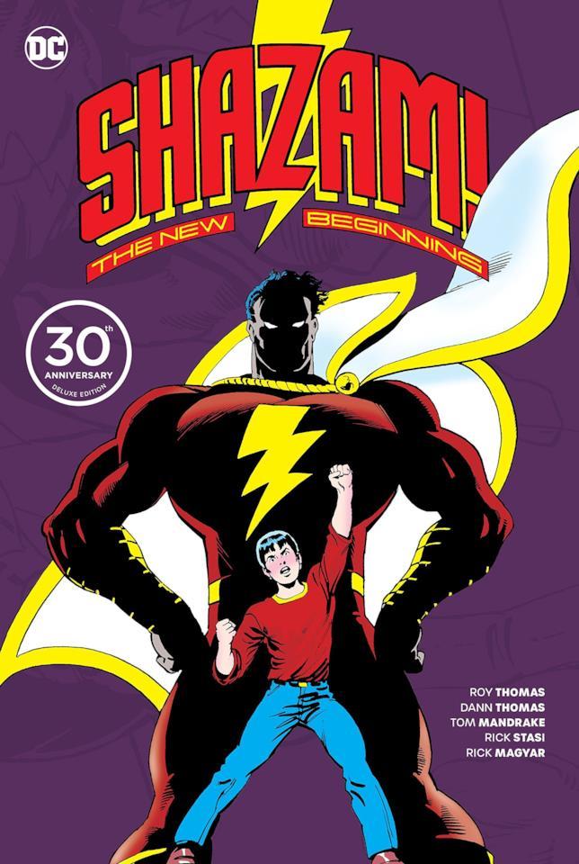Copertina del volume celebrativo del 30esimo anniversario della miniserie Shazam: The new Beginning