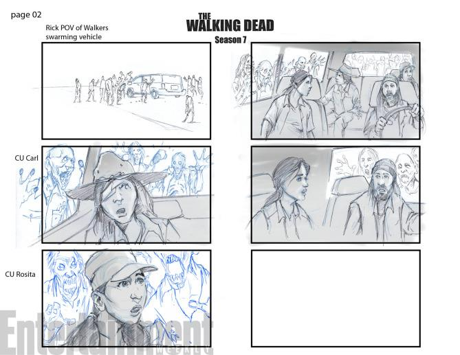 """Lo storyboard di una scena dell'episodio """"Ci vuole coraggio"""""""