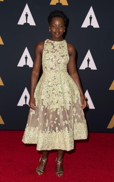 Lupita Nyong'o alla cerimonia degli Oscar alla Carriera