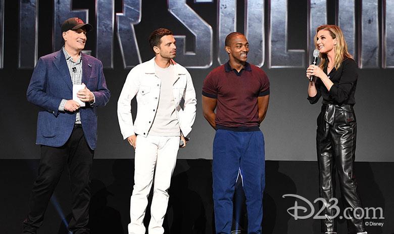 Kevin Feige, Sebastian Stan, Anthony Mackie ed Emily VanCamp al D23 Expo