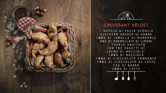 La ricetta dei croissant veloci