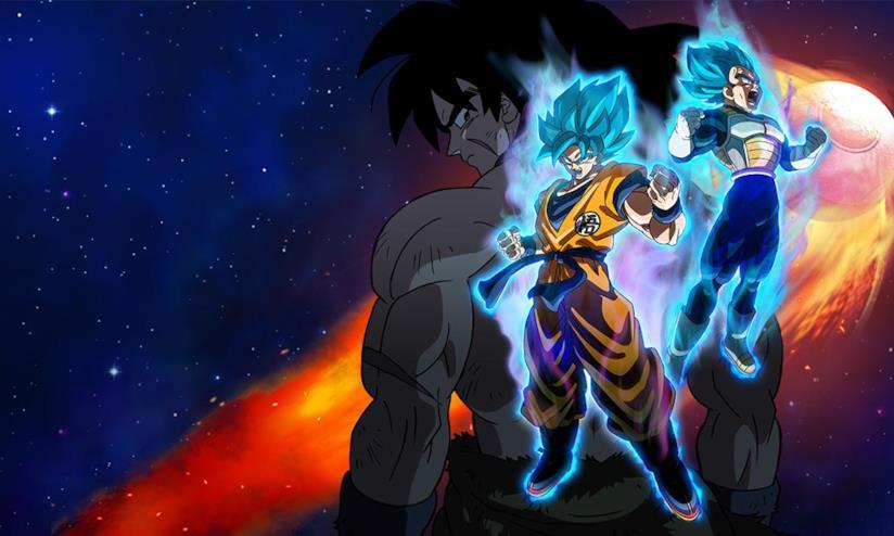 Broly, Goku e Vegeta