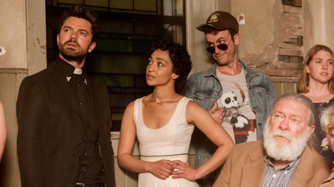 Cast di Preacher in una scene dalla serie