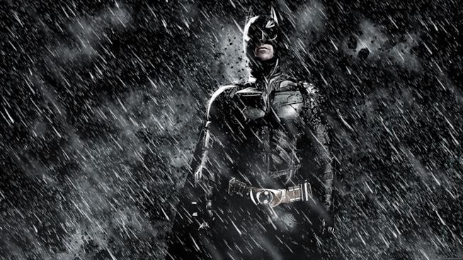 Batman in una delle locandine promozionali de Il cavaliere oscuro: il ritorno