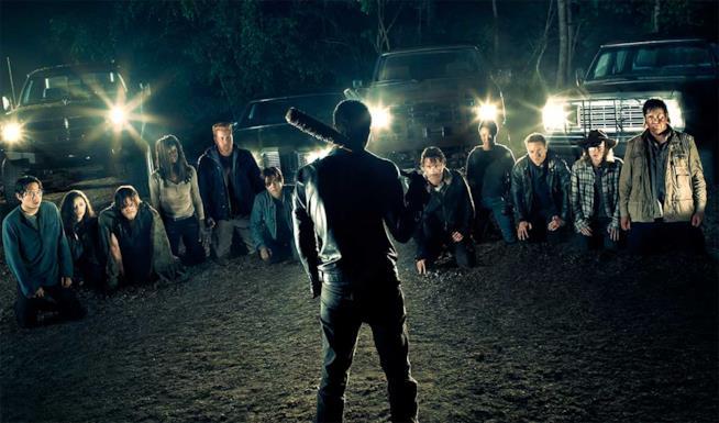 Negan davanti agli Undici di The Walking Dead