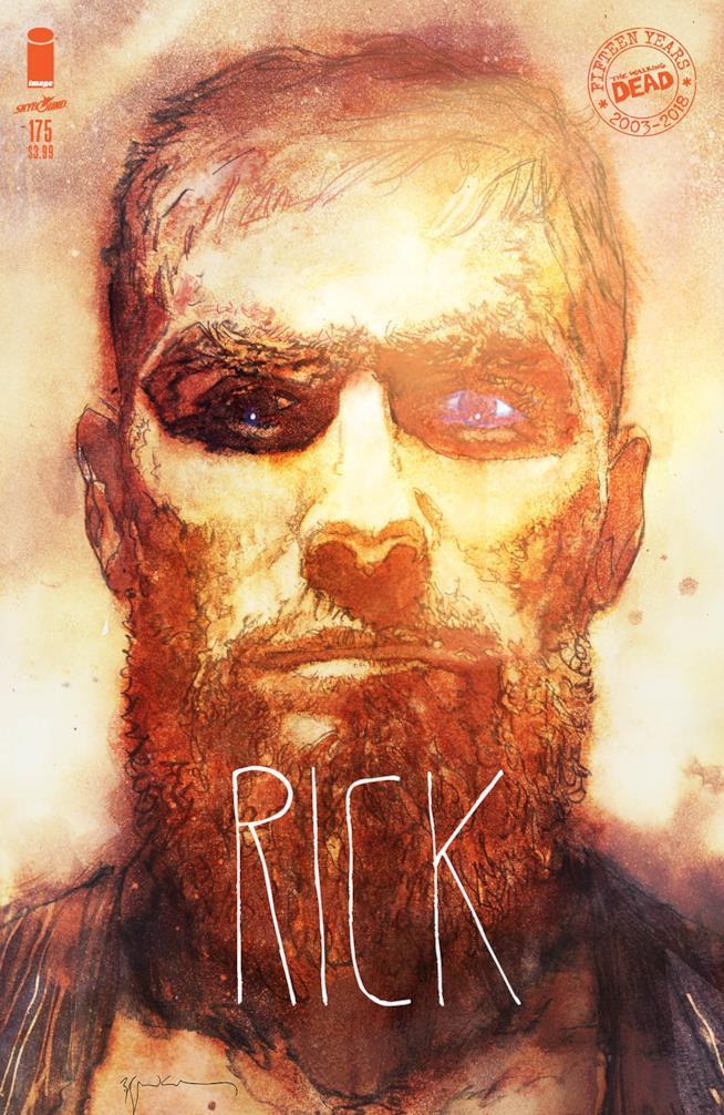 La variant cover del numero 175 di The Walking Dead dedicata a Rick Grimes