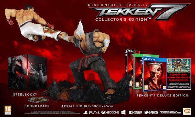 Immagine delle edizioni speciali di Tekken 7