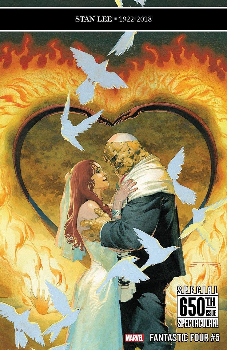 La cover di Fantastic Four #5