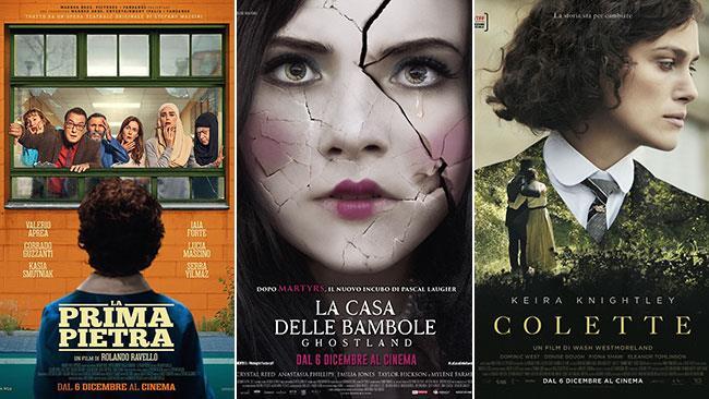 I poster dei film La prima pietra, Ghostland - La casa delle bambole, Colette