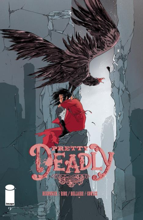 Sissy e un avvoltoio sulla cover di Pretty Deadly #3