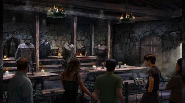 Un'illustrazione raffigura l'aspetto del museo di Game of Thrones dove si terrà lo studio tour
