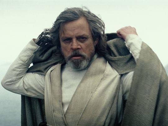 Mark Hamill nel ruolo di Luke Skywalker in Star Wars: Episode VIII